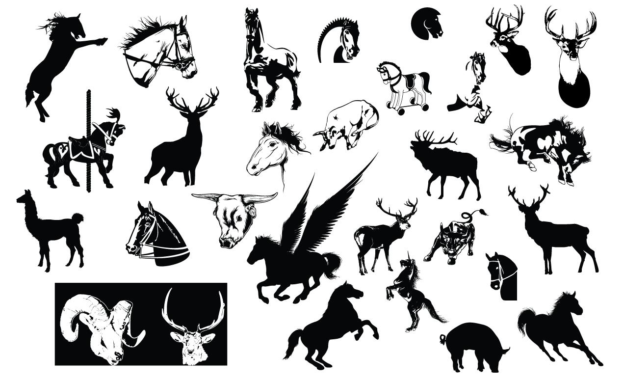 Adobe Illustrator Horse Amp Hoof Vector Pack