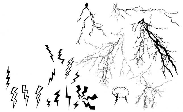 Lightning Bolt Vector Pack for Adobe Illustrator