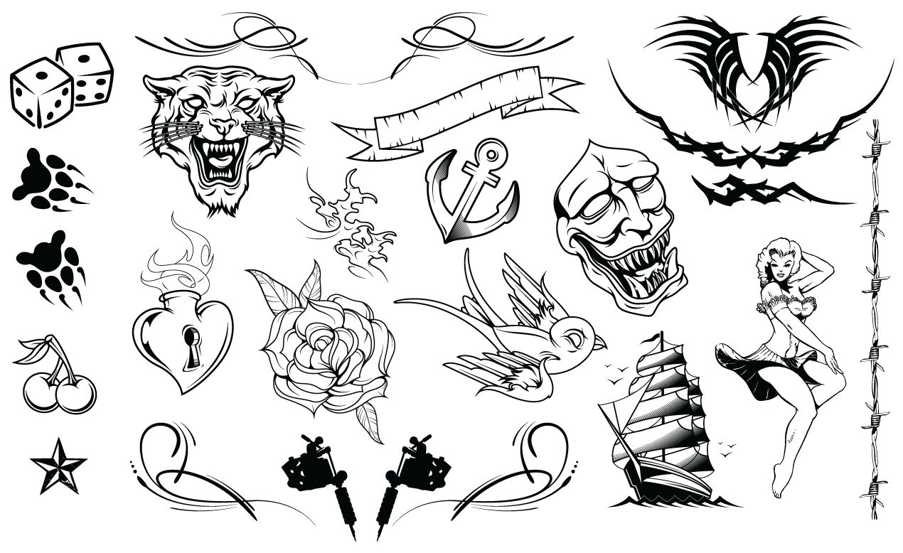 tattoos vector pack rh arsenal gomedia us victor tattoo galway vector tattoo machine