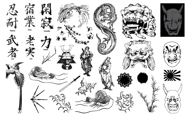 Asian Art Vector Pack for Adobe Illustrator