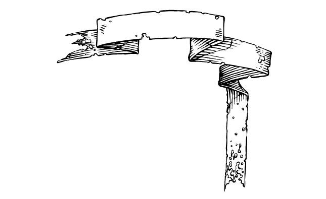 the tattered adobe illustrator scroll banner vector pack