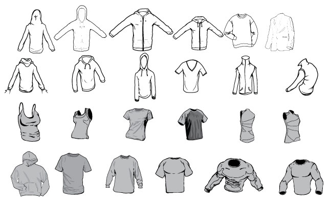 Apparel Vector Pack For Adobe Illustrator Templates