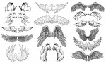 Hand Drawn Wings Vector Pack is a beautiful collection of 15 original vector wings hand crafted by Go Media artists.