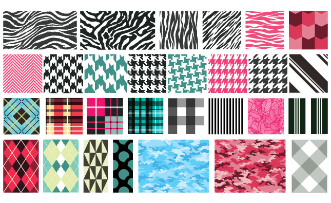 Adobe Illustrator Vector Set 14 Textile Patterns Preview All