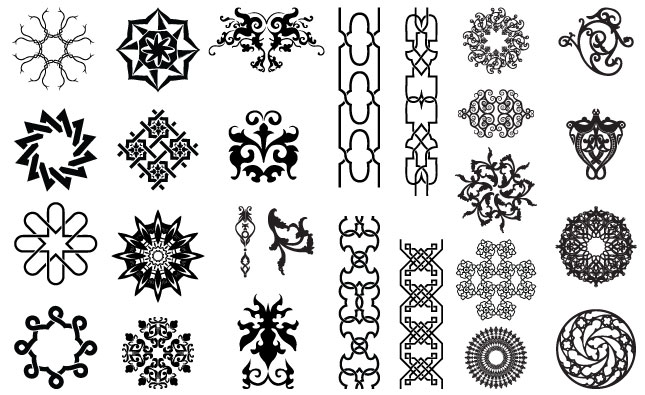 arabesque ornate vector pack for adobe illustrator rh arsenal gomedia us ornate vector swirls ornate vector pattern