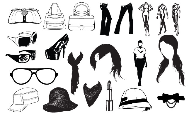 Adobe Illustrator Vector Set 15 Fashion Preview All