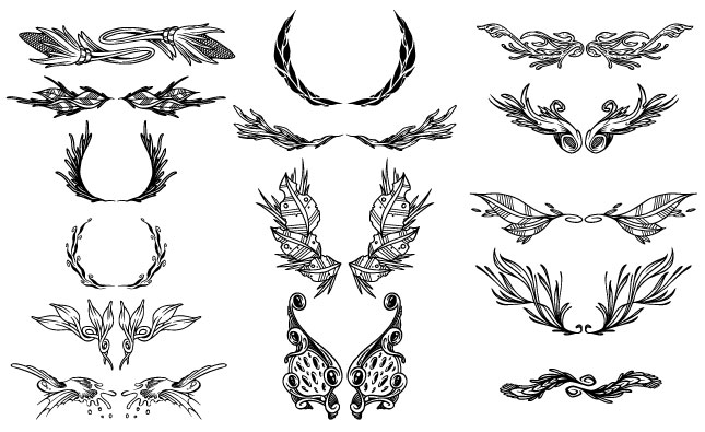 Ornate Ornaments Vector Pack
