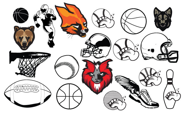 Varsity Sports Vector Pack for Adobe Illustrator