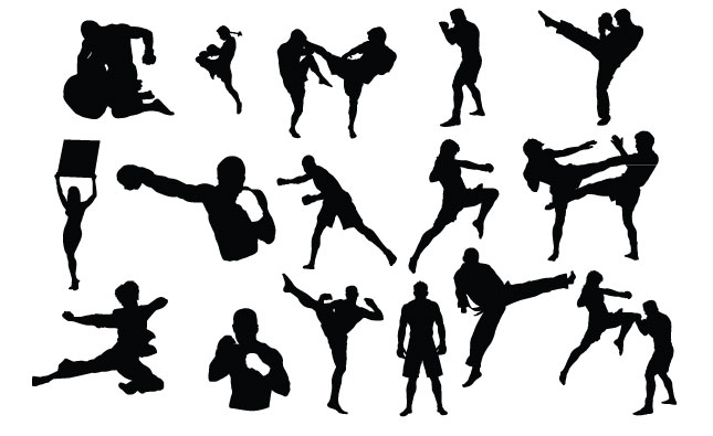 MMA Fighters Vector Pack for Adobe Illustrator
