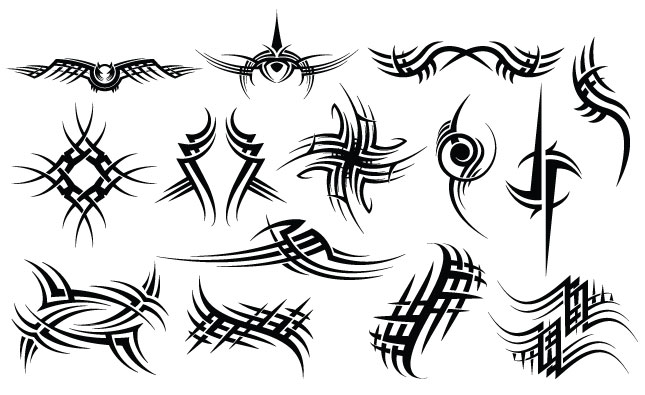 Adobe Illustrator Vector Set 19 Tribal Mma Preview All