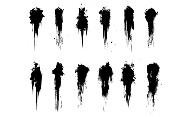 Grimey Brush Strokes Vector Pack