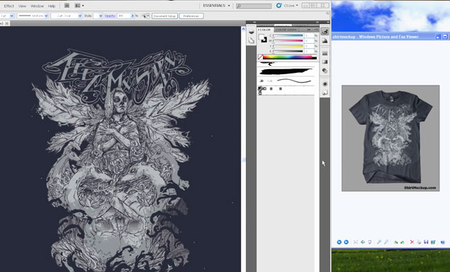 Illustrator t shirt design tutorial | t shirt design adobe.
