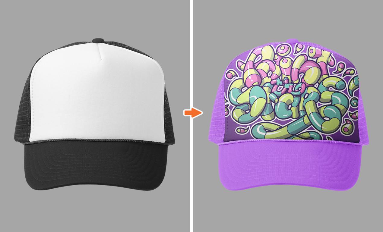 Photoshop Hat Mockup Template Pack