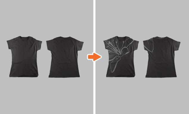 Ladies Flat T-Shirt Mockup Templates Pack