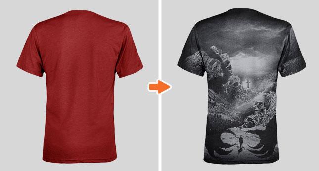 Tri-Blend V-Neck T-Shirt Mockup Templates Pack