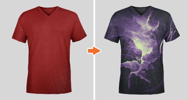 Tri Blend V Neck T Shirt Mockup Templates Pack