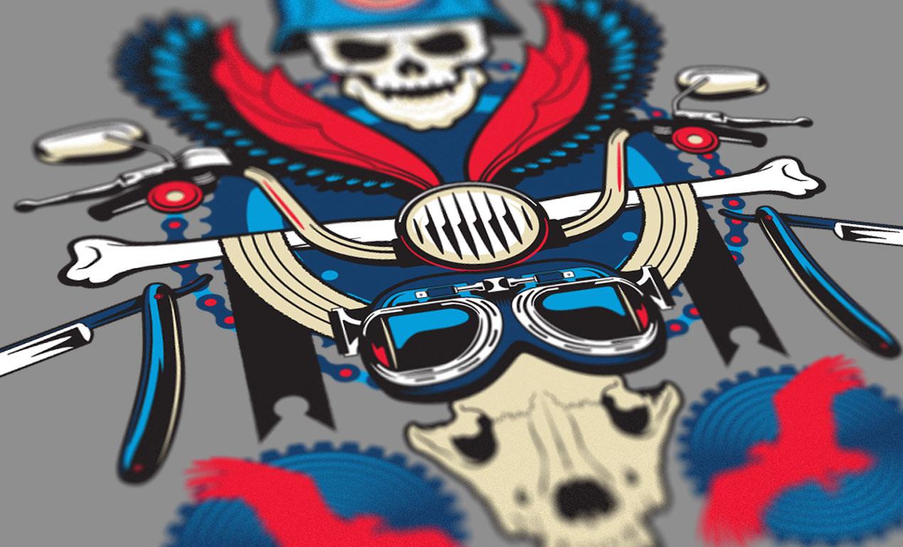 Shirt design vector pack - Break The Design Roadhog Feature Header
