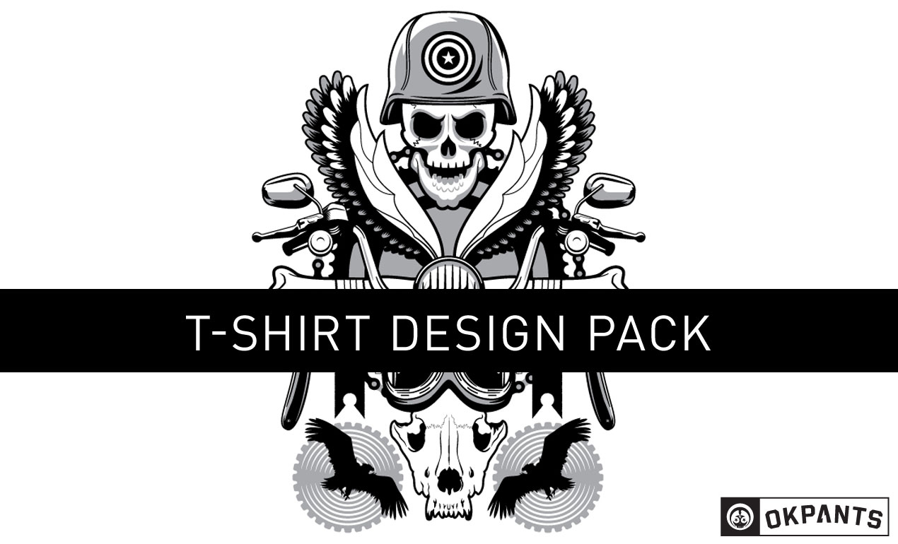 T shirt design vectors - Road Hog Custom Vector Shirt Design Pack