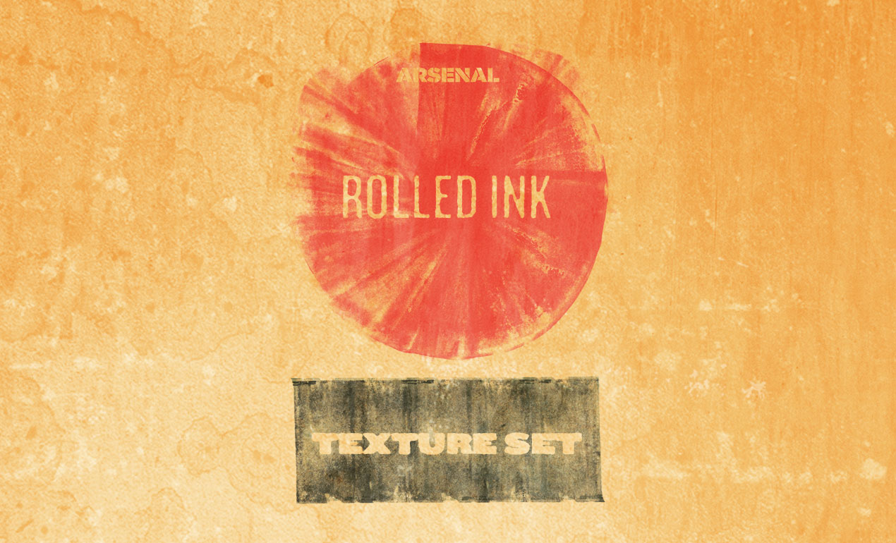 Adobe Photoshop Texture Rolled Ink Textures Hero Shot