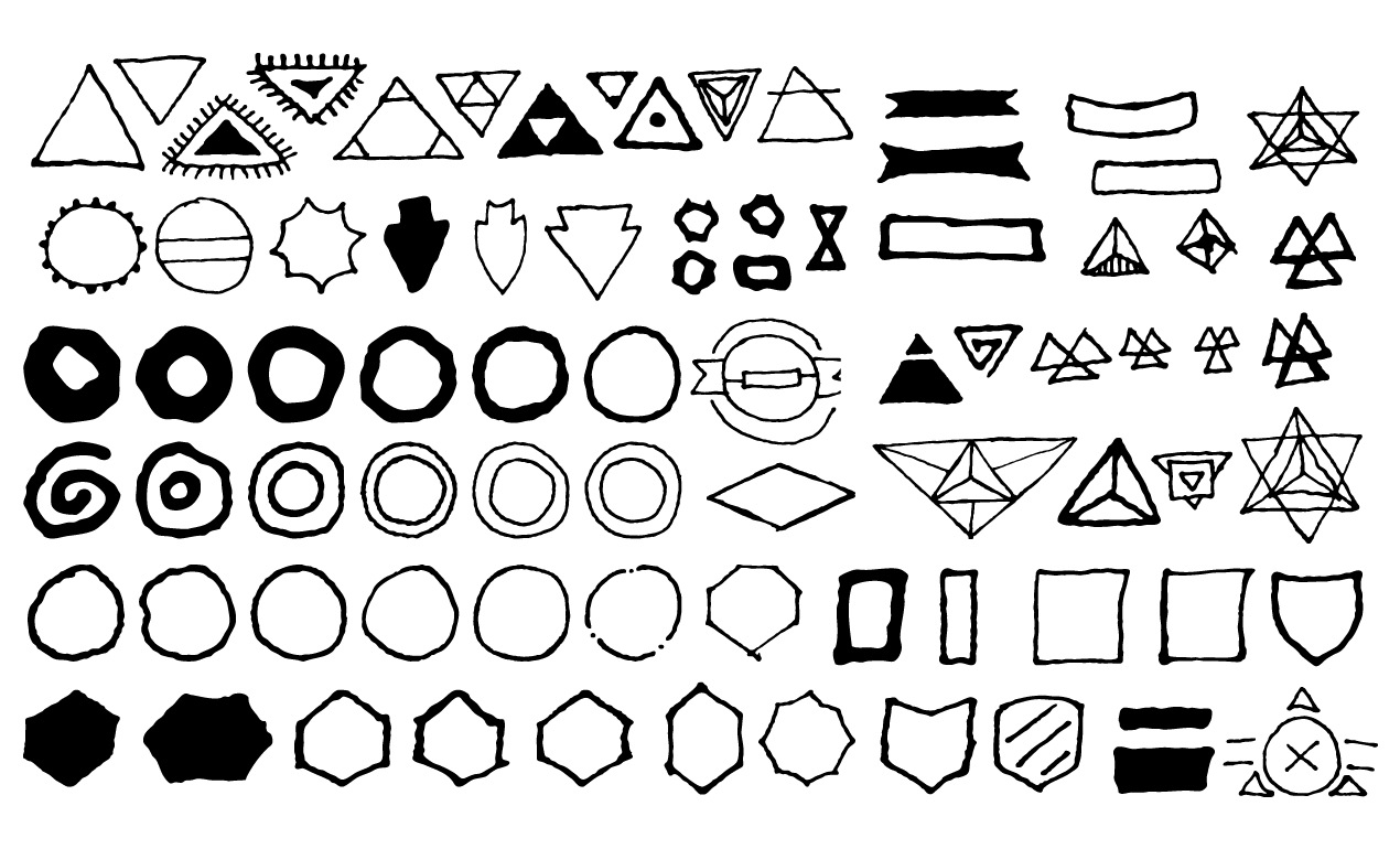 500 occult symbols and esoteric designs vector collection hand drawn shapes vector pack for adobe illustrator biocorpaavc Gallery