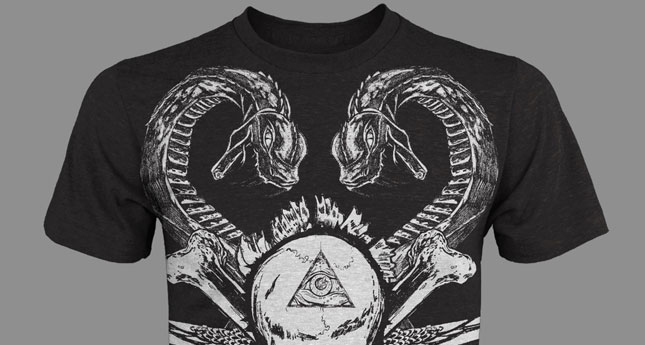 Stand Out Designs T Shirts : Skull and snake t shirt design pack