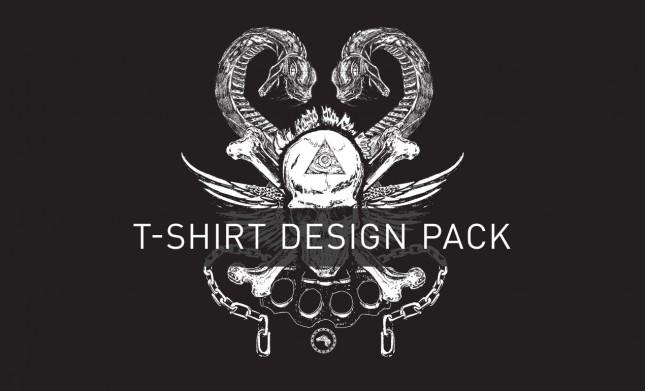 Skullandsnake T Shirt Designpack Hero
