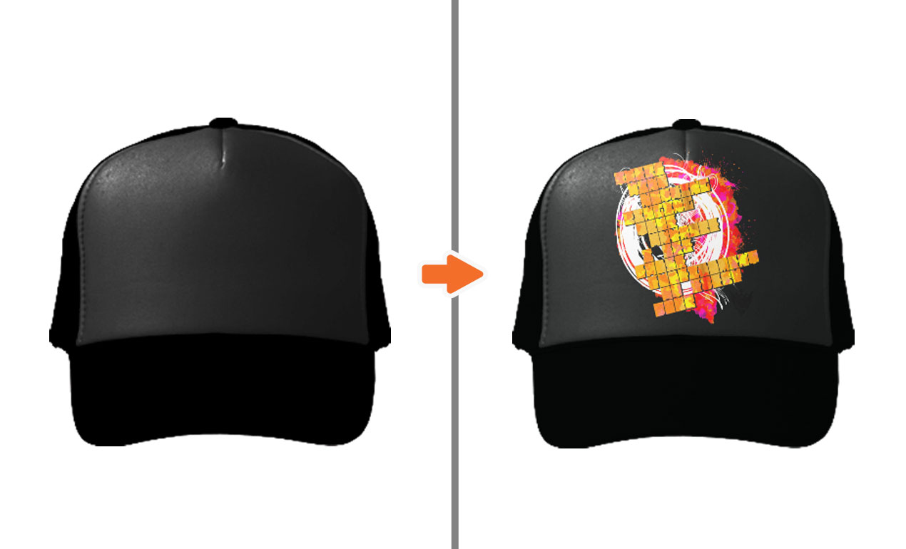 64ae5a1b4ba ... Truckerhat Adobe Photoshop Hat Mockup Template Pack
