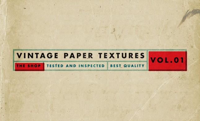 Vintage Paper Textures, Volume 1