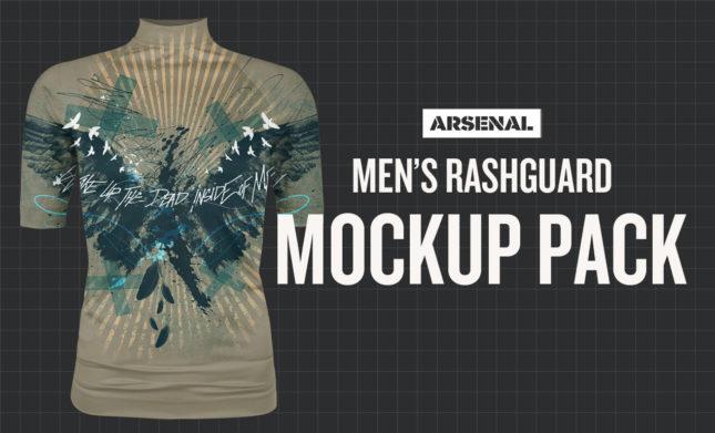 men's rashguard mockup template pack