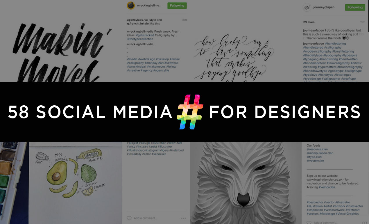 Social Media Hashtags for Graphic Designers