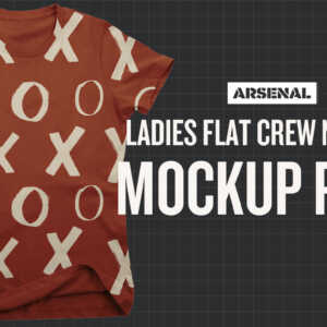 Ladies Flat Crew Neck T-Shirt Mockup Template Pack