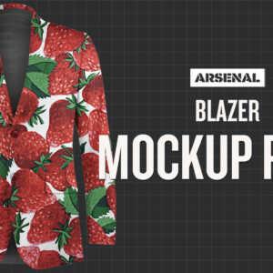 Blazer Mockup Template Pack by Go Media