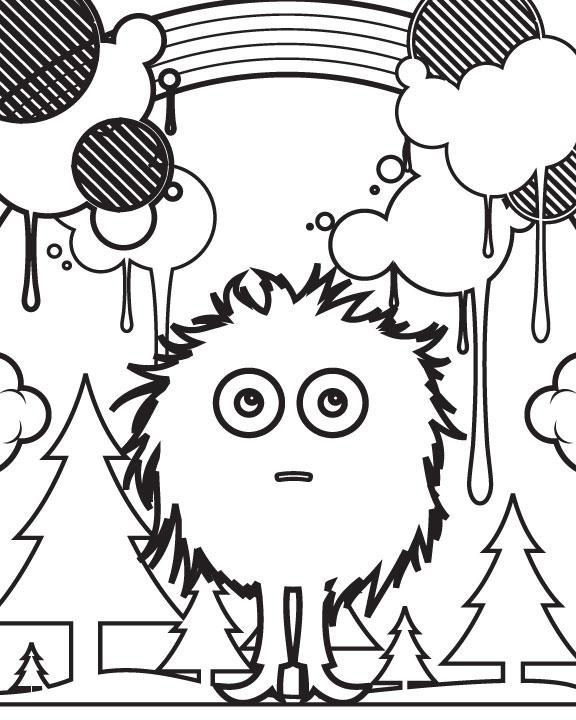 Go-Media-Cute-Stuff-Coloring-Page