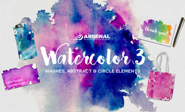 Watercolor Elements Pack