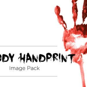 Bloody Handprint Stock Image