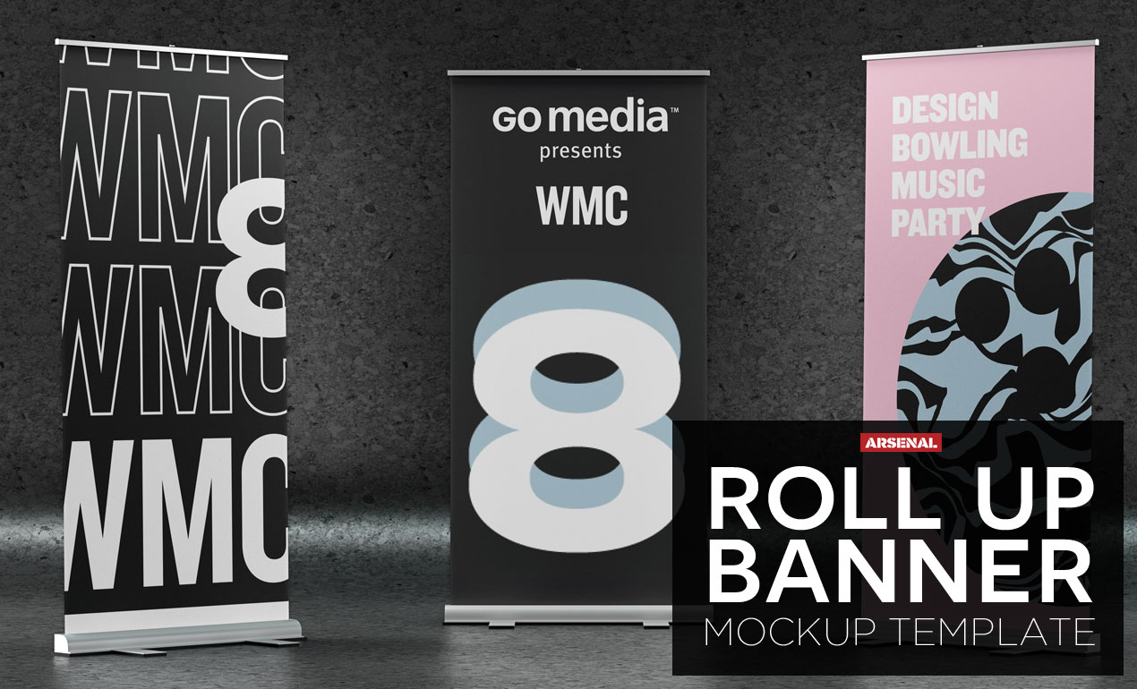 Roll Up Banner Mockup Template