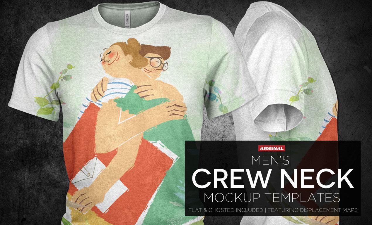 Mens-Crew-Neck-T-Shirt-Mockup-Templates1