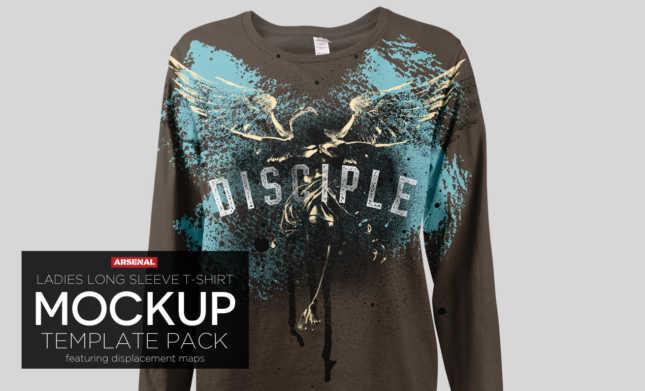 Ladies Long Sleeve T-Shirt Mockup Templates Pack