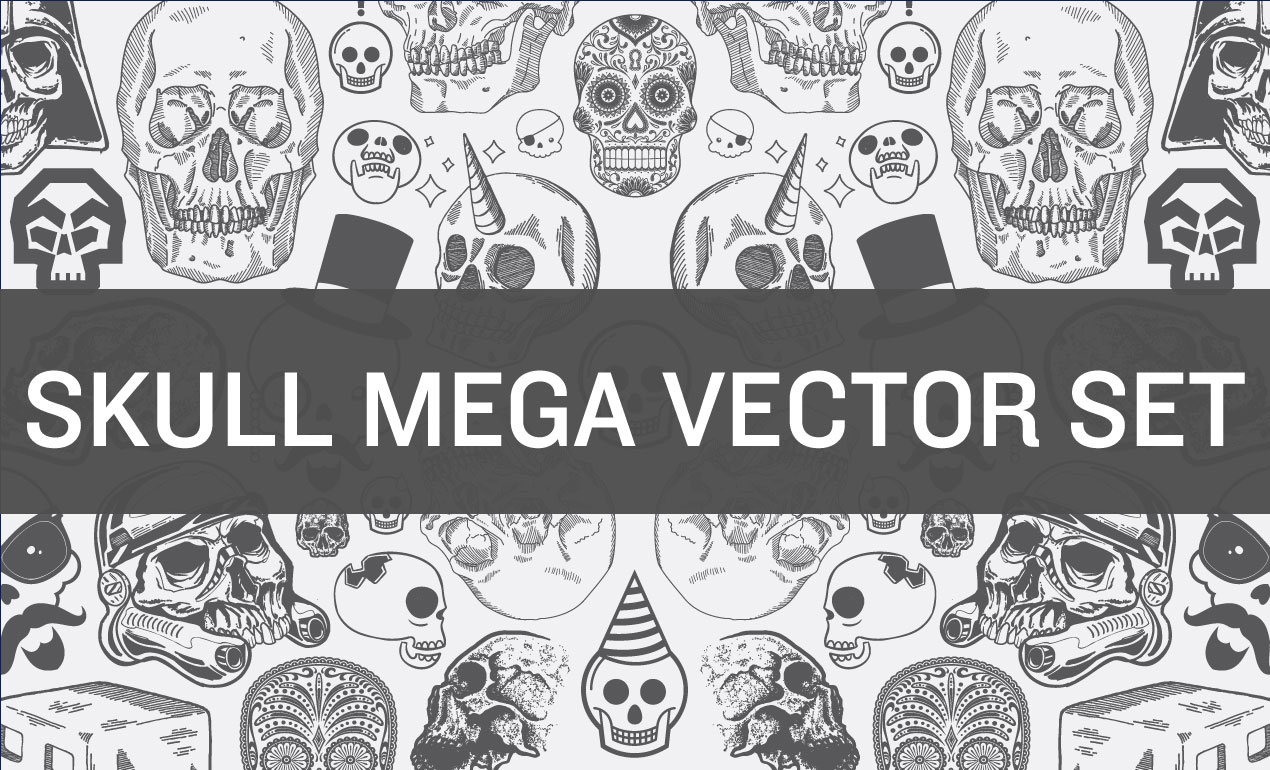 Skull-Mega-Vector-Set1