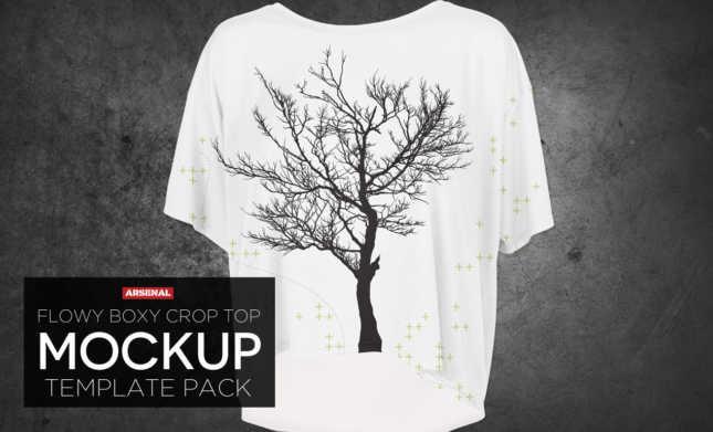 Crop Top Mockup Template Pack