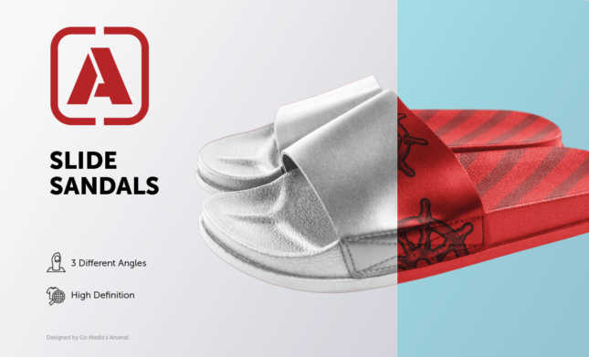Slide Sandals Mockup Template Pack