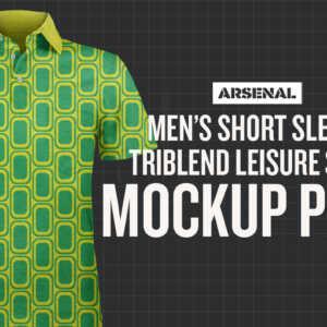 Men's Short Sleeve Triblend Leisure Shirt Mockup Pack