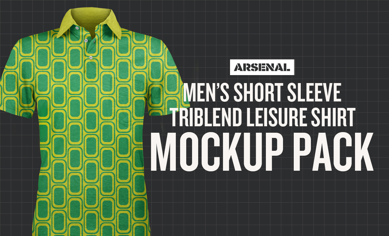 Men's Short Sleeve Triblend Leisure Shirt Mockup Pack