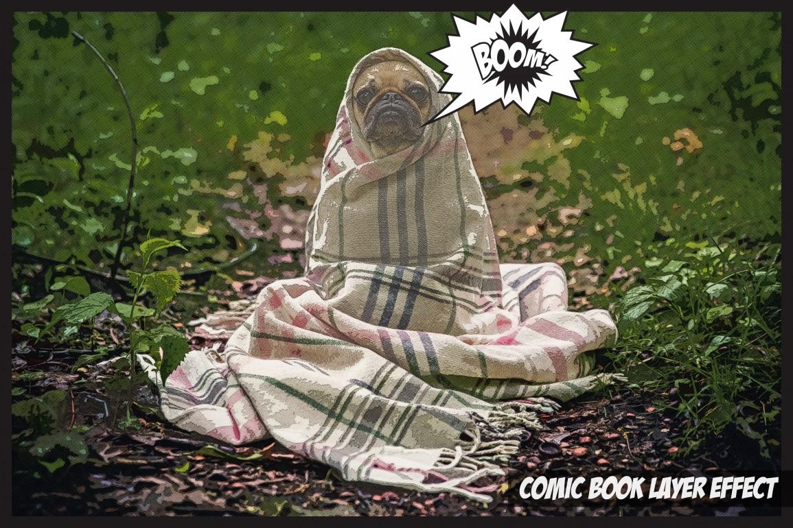 Comic Book Hero Layer Effect Free