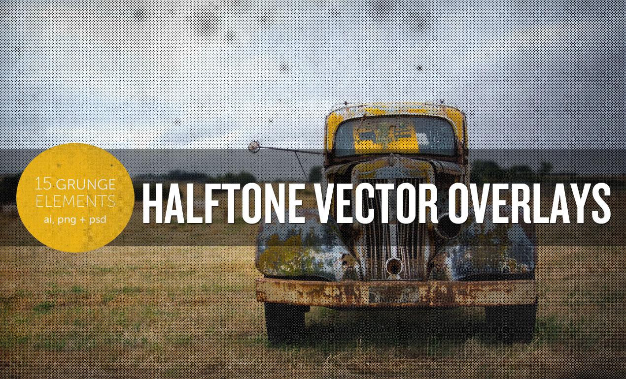 Halftone Vector Overlay