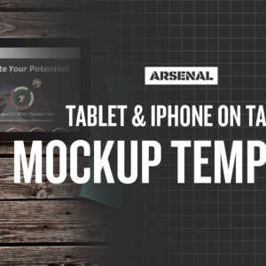 Tablet and iPhone Mockup Template