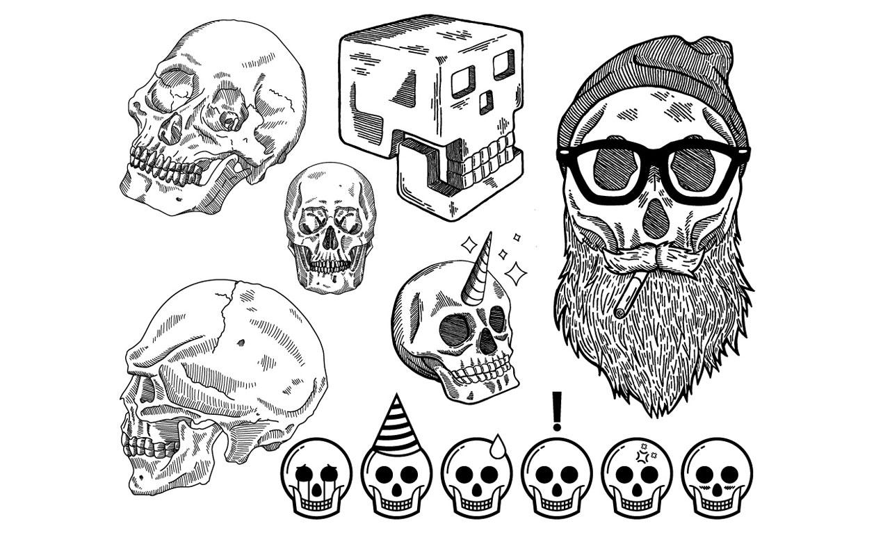 Jordan Wong's Skull Vector Pack