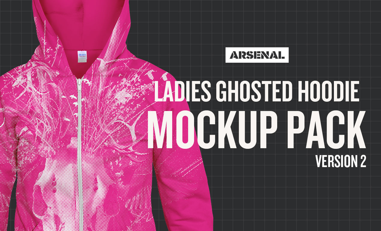 Ladies Ghosted Hoodie Mockup Pack