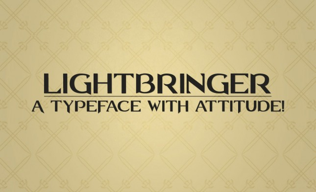 Lightbringer All Caps Font by Go Media's Arsenal