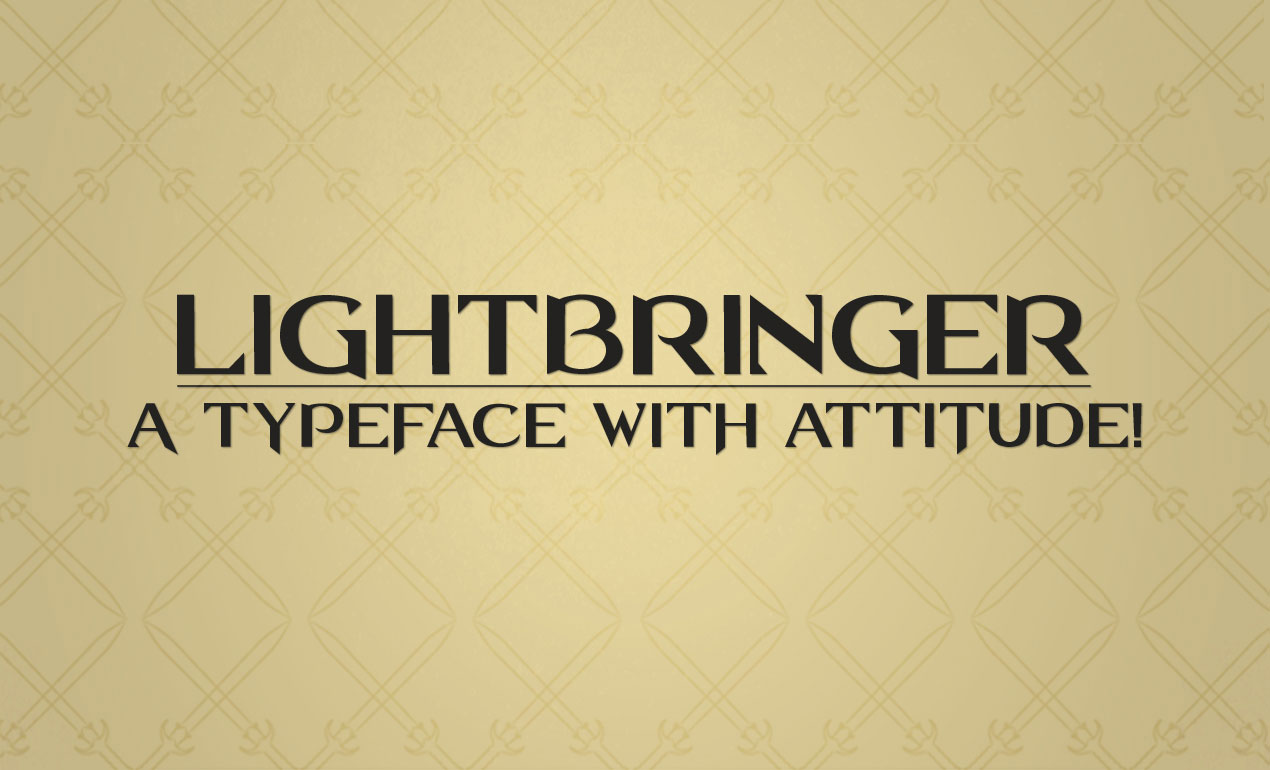 Lightbringer All Caps Font by Go Media's Arsenal